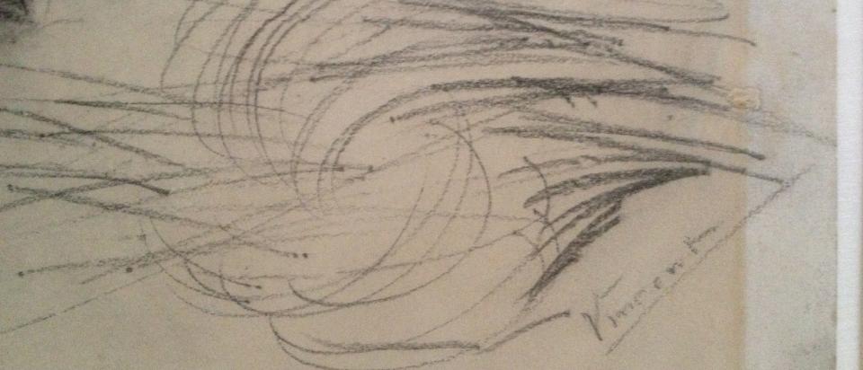 Admiring Van Gogh's process sketches