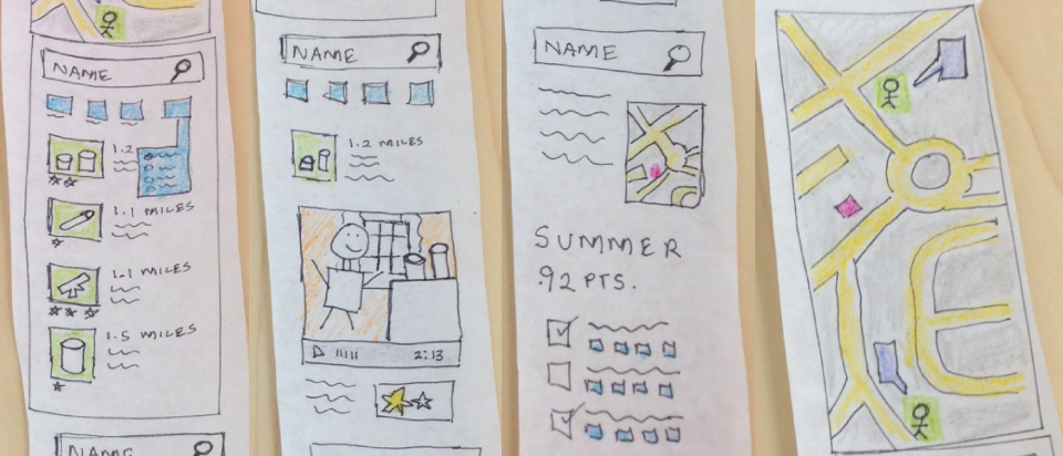 Brian Gerardo prototyped ideas for a smart phone app