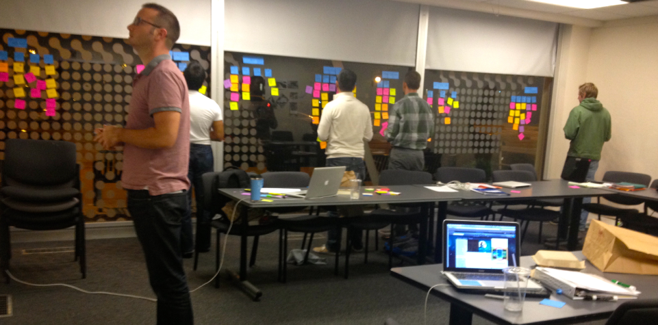 Turning an entire room into a business model canvas
